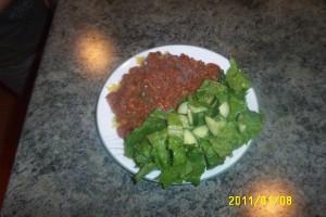 Squash, Sauce, and Salad